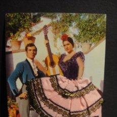 Postales: TARJETA FLAMENCO EN TELA Y BORDADOS - EDICIONES L. DOMINGUEZ - SIN CIRCULAR. Lote 278804078