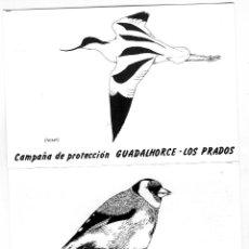 Postales: DOS TARJETASPOSTALES=CAMPAÑA DE PROTECCION GUADALHORCE-LOS PRADOS-ESCRITOS IMPRESOS POR EL REVERSO .. Lote 282482743