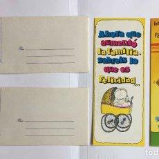 Postales: 2 TARJETAS POSTALES DE FELICITACIÓN (MADRID, POPY CARDS, 1982) CON SOBRES. NO CIRCULADAS ¡ORIGINALES. Lote 284045233