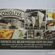 Postales: FREIDURIA DE PESCADO , CONOLIVA. Lote 295331698