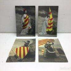 Postales: LOTE DE 4 POSTALES FOTOGRAFICAS CATALANISTAS. Lote 296683678