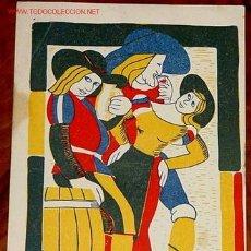 Postales: ANTIGUA POSTAL DE PUBLICIDAD - PABELLON DEL VINO ESPAÑOL EN LA 1ª FERIA NACIONALDEL CAMPO. Lote 842913