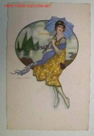 POSTAL CIRCULADA EN 1933 (Postales - Postales Temáticas - Estilo)