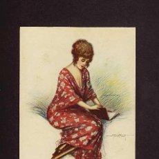 Postales: POSTAL ILUSTRADA POR BERTIGLIA: MUJER ART DECO. Lote 3107528