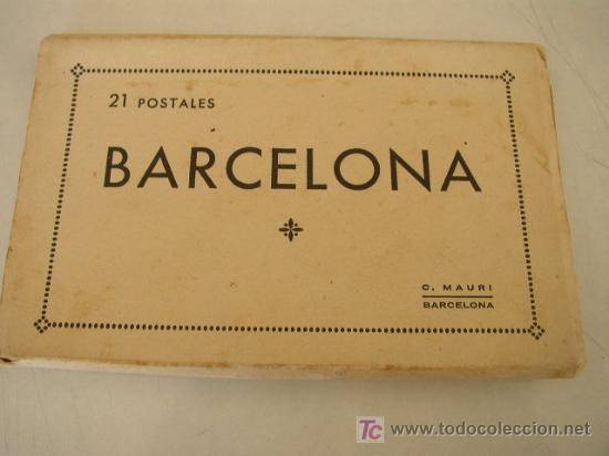Postales: CARPETA CON 21 POSTALES DE BARCELONA.- C. MAURI.- BARCELONA. VER FOTOS - Foto 2 - 22173551
