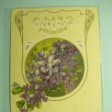 Postales: 353 FLOR FLORES FLOWERS FLEUR ESTILO ART NOUVEAU VIOLETA VIOLETAS - MAS EN COSAS&CURIOSAS. Lote 5320604