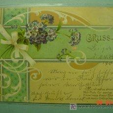 Postales: 357 FLOR FLORES FLOWERS FLEUR ESTILO ART NOUVEAU VIOLETA VIOLETAS - MAS EN COSAS&CURIOSAS. Lote 5320609