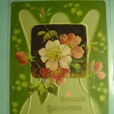 Postales: 349 FLOR FLORES FLOWERS FLEUR ESTILO ART NOUVEAU - MAS EN COSAS&CURIOSAS. Lote 11177825