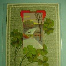 Postales: 350 TREBOL 4 HOJAS FLOR FLORES FLOWERS FLEUR ESTILO ART NOUVEAU - MAS EN COSAS&CURIOSAS. Lote 5320636