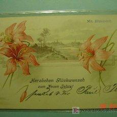 Postales: 379 FLOR FLOWER PRECIOSA POSTAL ESTILO ART NOUVEAU - AÑOS 1900 - MAS EN COSAS&CURIOSAS. Lote 11177831
