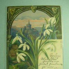Postales: 352 FLOR FLOWER PRECIOSA POSTAL ESTILO ART NOUVEAU - AÑOS 1900 - MAS EN COSAS&CURIOSAS. Lote 11177833