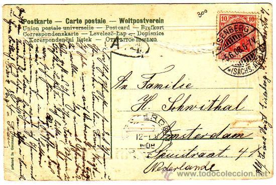 Postales: Postal circulada en 1908 - Foto 2 - 9184759