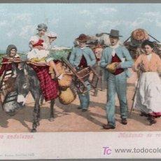 Postales: COSTUMBRES ANDALUZAS. MUDANDO DE RESIDENCIA. TOMÁS SANZ Nº 145. CURIOSA POSTAL. Lote 17967867