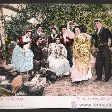 Postales: COSTUMBRES ANDALUZAS. EN LA HUERTA DEL TÍO MILINDRIS. PUGER & CO. ANTERIOR A 1906. NO CIRCULADA. Lote 14668340