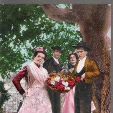 Postales: COSTUMBRES ANDALUZAS. EN LA HUERTA DEL TÍO MILINDRIS. COL. TOMÁS SANZ. ANTERIOR A 1906. Lote 14776316