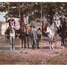 Postales: COSTUMBRES ANDALUZAS. GRUPO DE GARROCHISTAS. PURGER & CO.. Lote 20478152