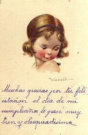 DIBUJO NIÑA (Postales - Postales Temáticas - Estilo)