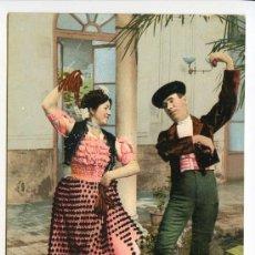 Postales: COSTUMBRES ANDALUZAS. LA MALAGUEÑA Y EL TORERO. COLECCIÓN TOMAS SANZ Nº 23. PÜRGER 2139. Lote 26993460