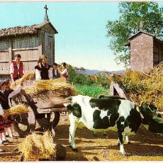 Postales: POSTAL A COLOR Nº 4 FOLKLORE GALLEGO ED ALARDE CIRCULADA 1969. Lote 10585037