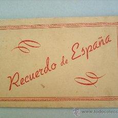 Postales: RECUERDO DE ESPAÑA -ACORDEON DE 5 POSTALESCATALUÑA-BARCELONATRAJES REGIONALES. Lote 15531879