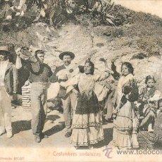 Postales: COSTUMBRES ANDALUZAS – POSTAL COSTUMBRISTA ANTIGUA. Lote 25470476