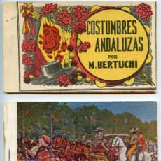 Postales: COSTUMBRES ANDALUZAS, POR M. BERTUCHI, DOS CARNETS DE 10 POSTALES CADA UNO. TOTAL 20 POSTALES. Lote 26402365