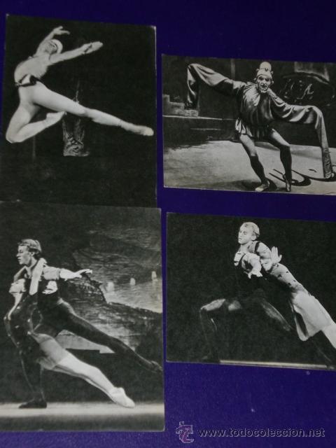 Postales: Conjunto de 30 postales rusas de personajes rusos de la danza.(1970) - Foto 5 - 16026325