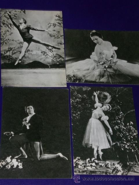 Postales: Conjunto de 30 postales rusas de personajes rusos de la danza.(1970) - Foto 6 - 16026325