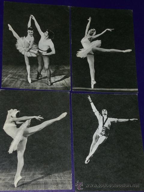 Postales: Conjunto de 30 postales rusas de personajes rusos de la danza.(1970) - Foto 9 - 16026325