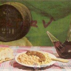 Postales: POSTAL A COLOR Nº 258 PLATOS TIPICOS SECAS AMB BUTIFARRA CIRCULADA 1963 . Lote 13868924