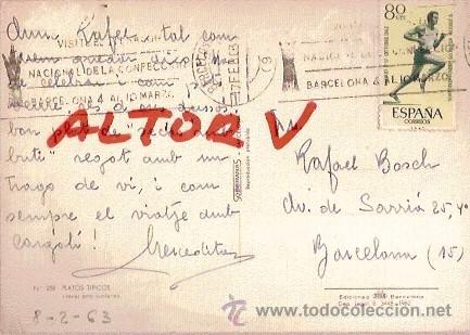 Postales: POSTAL A COLOR Nº 258 PLATOS TIPICOS SECAS AMB BUTIFARRA CIRCULADA 1963 - Foto 2 - 13868924