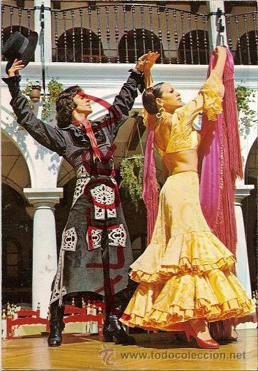 POSTAL A COLOR 2043 ESPAÑA TIPICA BALLET FIESTA FLAMENCA EL RELICARIO NIGHT CLUB ED SAVIR (Postales - Postales Temáticas - Estilo)