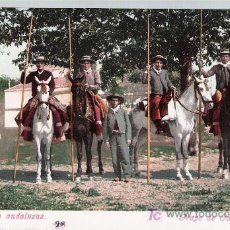 Postales: COSTUMBRES ANDALUZAS.- GRUPO DE GARROCHISTAS. ANTERIOR A 1906. NO CIRCULADA. Lote 14879834