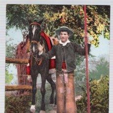 Postales: COSTUMBRES ANDALUZAS.- UN GANADERO.. ANTERIOR A 1906. NO CIRCULADA. Lote 14894103