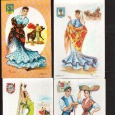 Postales: INTERESANTE LOTE DE 7 POSTALES: DE TRAJES REGIONALES EDITOR F MOLINA PRECIOSAS. Lote 27326866