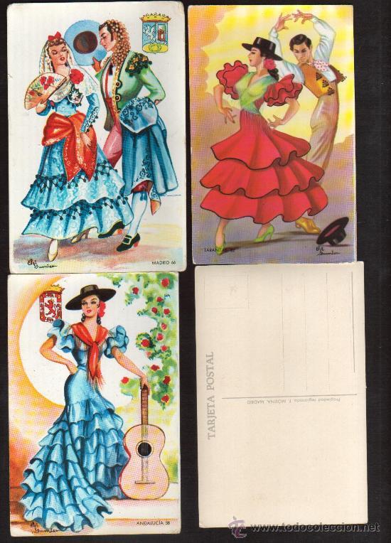 Postales: INTERESANTE LOTE DE 7 POSTALES: DE TRAJES REGIONALES EDITOR F MOLINA PRECIOSAS - Foto 2 - 27326866