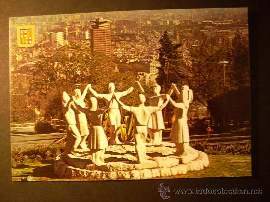 740 ESPAÑA CATALUÑA BARCELONA MONUMENTO A LA SARDANA AÑOS 70/80 - MIRA MIS OTROS ARTÍCULOS (Postales - Postales Temáticas - Estilo)