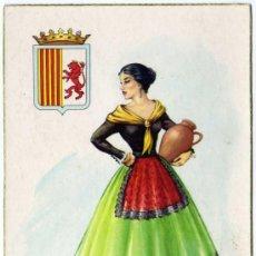 Postales: BONITA POSTAL - ARAGON - MUJER CON TRAJE REGIONAL - ESCUDO. Lote 24921808