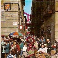 Postales: POSTAL A COLOR Nº 1321 BARCELONA TIPICA FESTIVITAT DE SANT JORDI DIA DE LA ROSA ESCRITA 1966 ESCUDO . Lote 16433997