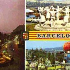 Cartes Postales: BARCELONA - MONUMENTO A CRISTOBAL COLON. MONUMENTO A LA SARDANA. PARQUE DE ATRACCIONES DE MONTJUICH. Lote 17595963