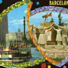 Cartes Postales: BARCELONA - PUERTO Y MONUMENTO A LA SARDANA. Lote 17915638
