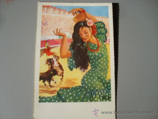 FLAMENCA AÑOS 50 (Postales - Postales Temáticas - Estilo)