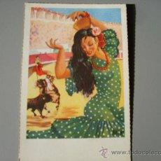 Postales: FLAMENCA AÑOS 50. Lote 25294919
