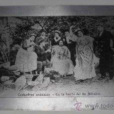 Postales: ANTIGUA POSTAL METALICA O DE ALUMINIO Nº 27 COSTUMBRES ANDALUZAS - EN LA HUERTA DEL TIO MILINDRIS - . Lote 18396814