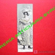 Postales: TARJETA POSTAL ANTIGUA MUJER VESTIDA CON ROPA DE LA ÉPOCA (PRINCIPIOS DEL SIGLO XX) 14 X 4,5 CM. Lote 18753047