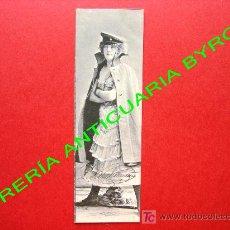 Postales: TARJETA POSTAL ANTIGUA MUJER VESTIDA CON ROPA DE LA ÉPOCA (PRINCIPIOS DEL SIGLO XX) 14 X 4,5 CM. Lote 18753106