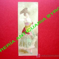 Postales: SAHARET. BAILARINA Y ACTRIZ AUSTRALIANA. FECHADA EN 1907. MEDIDAS, 16 X 6 CM. Lote 18753319