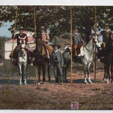 Postales: COSTUMBRES ANDALUZAS.- GRUPO DE GARROCHISTAS. TOMÁS SANZ Nº 28.. Lote 19021929