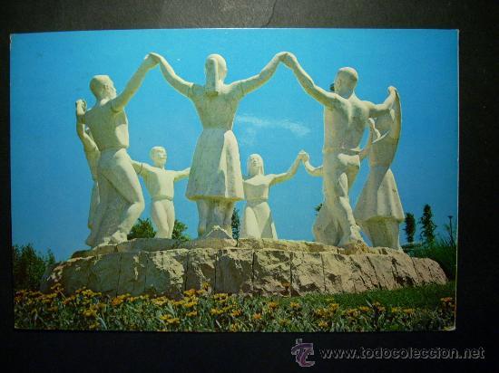 7644 ESPAÑA SPAIN CATALUÑA BARCELONA MONUMENTO A LA SARDANA AÑOS 60/70 CIRCULADA TENGO MAS POSTALES (Postales - Postales Temáticas - Estilo)