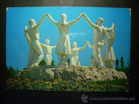 7645 ESPAÑA SPAIN CATALUÑA BARCELONA MONUMENTO A LA SARDANA AÑOS 60/70 CIRCULADA TENGO MAS POSTALES (Postales - Postales Temáticas - Estilo)